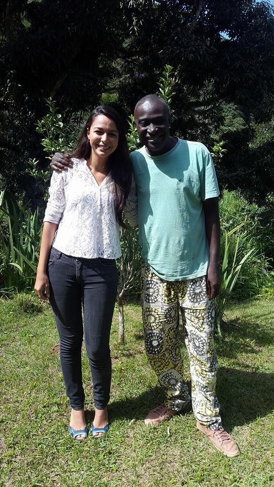 Com o engenheiro agrônomo Aly Ndiaye, idealizador da Tecnologia Social PAIS. Teresópolis, Rio de Janeiro,