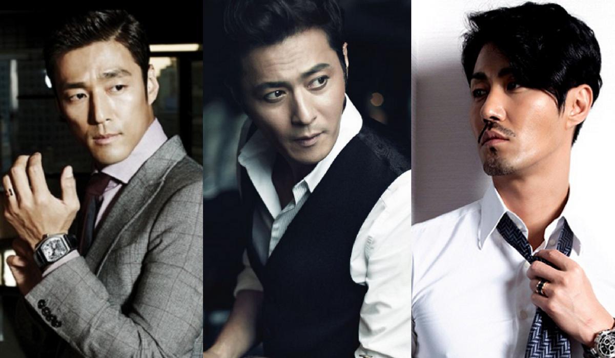 Alguns atores coreanos que estão na faixa dos 40 anos.