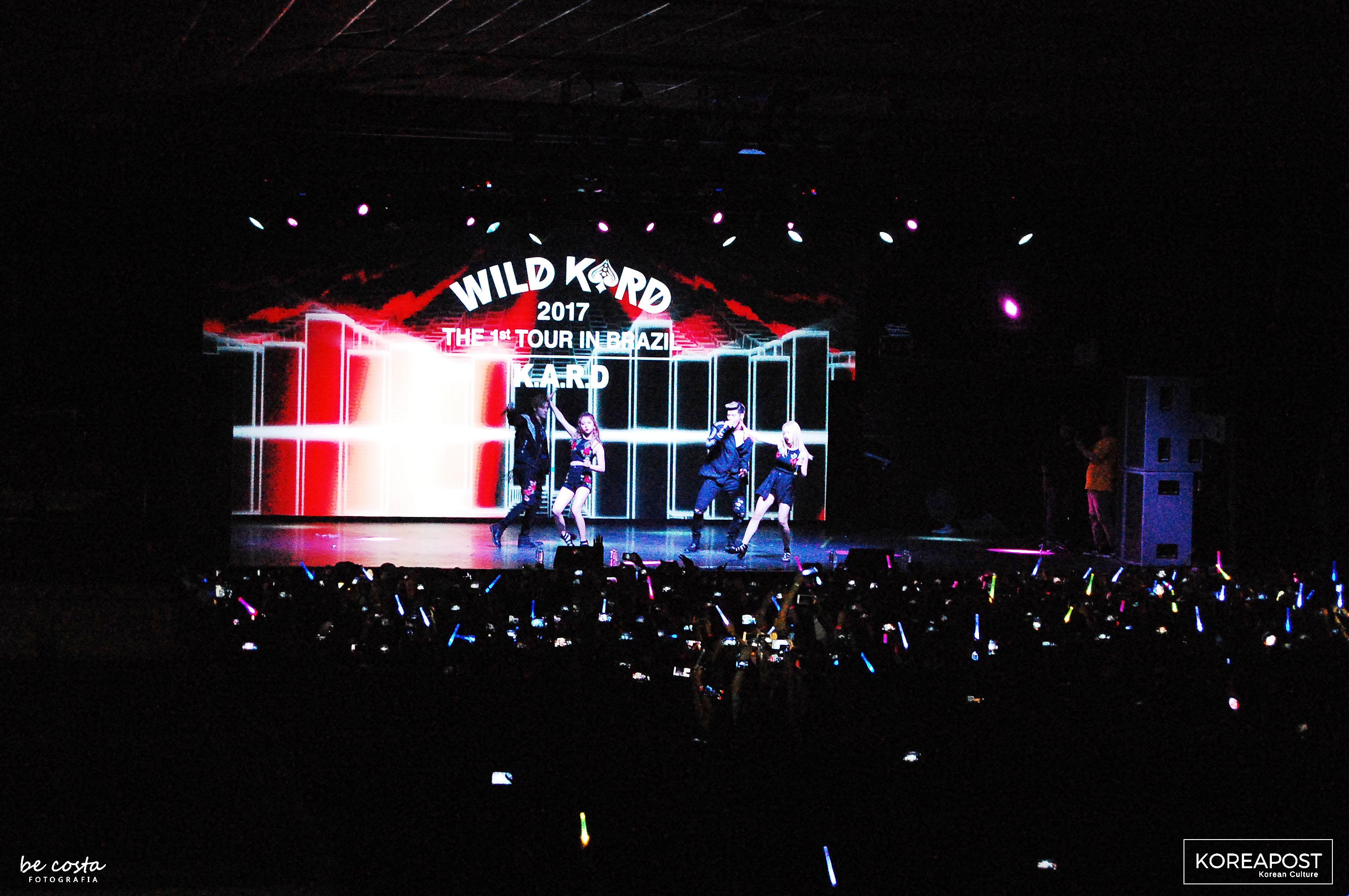 KARD no Tropical Butantã em São Paulo, apresenta a Wild Kard Tour, no dia 01 de julho. Foto: Koreapost.