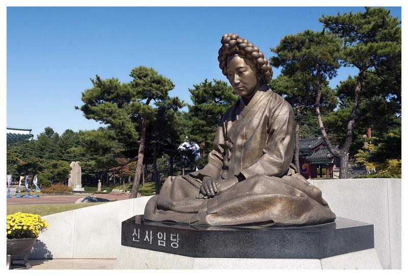A estátua de Saimdang. Foto: Flickr