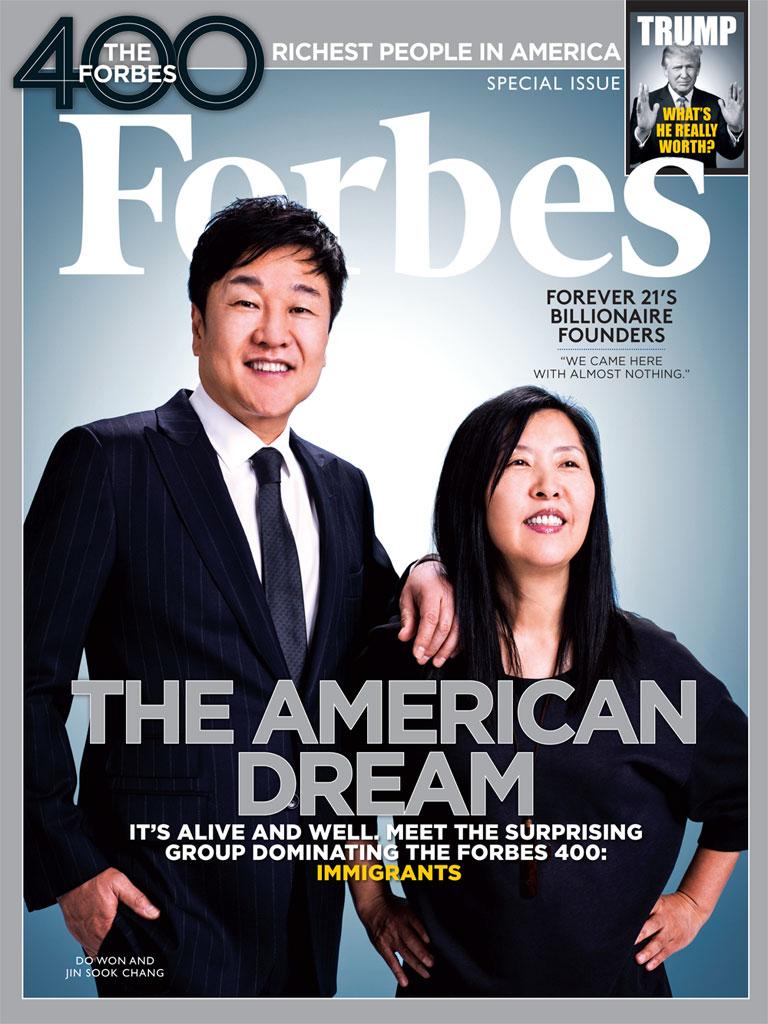 O casal na capa da Revista Forbes. Foto: Forbes