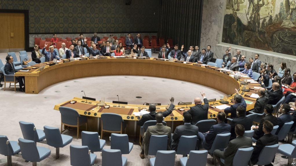 Votação no Conselho de Segurança das Nações Unidas.