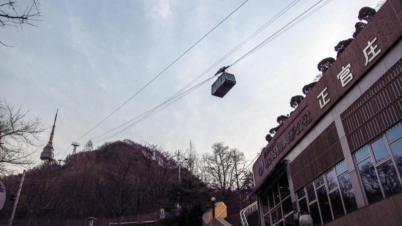 Teleférico Namsan. Foto: Life In Korea.