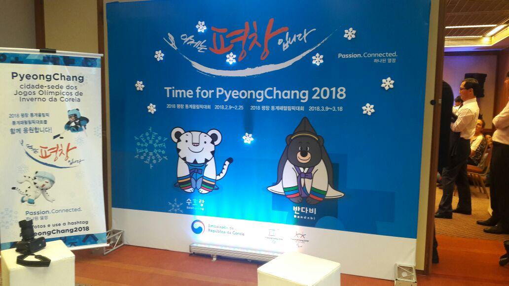 O estande de Peyongchang. Foto: Koreapost