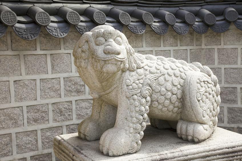 Esculturas do Haetae estão localizadas em vários pontos da capital Seul. (Foto: Kobiz Media)