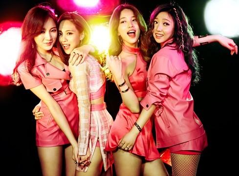 Da esquerda para a direita: Jia, Fei, Suzy e Min, que formavam o grupo missA. Foto: Soompi